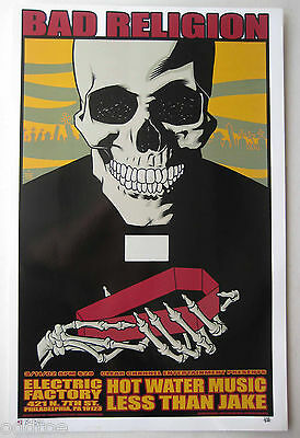 BAD RELIGION - Less Than Jake ORIGINAL 2002 CONCERT POSTER by BRIAN EWING, S/N