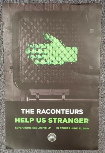 The Raconteurs Help Us Stranger 2019 PROMO POSTER Jack Black