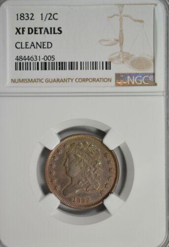 1832 Classic Head half cent, NGC XF