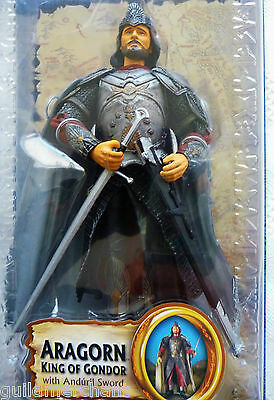 Lord of the Rings Return of the King Aragorn King of Gondor w// Anduril sword~MOC