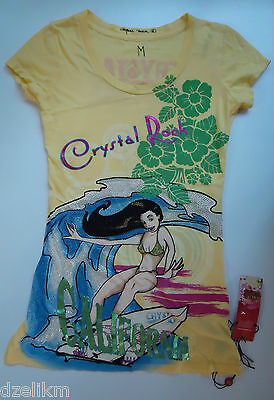 Crystal Rock By Crystal Audigier Graphic Print Tee Top Dress Size M