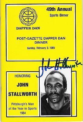 Pittsburgh Steelers HOF JOHN STALLWORTH autograph signed 1984 Dapper Dan Program