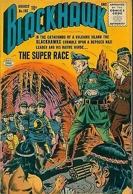 """(1956) BLACKHAWK #103 -- August - """"The Super Race"""" - 6.5 FN+"""