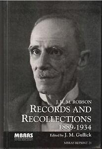 Records-and-Recollections-1889-1934-J-H-M-Robson-Edited-by-JM-Gullick