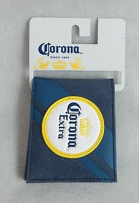 Corona Extra Wallet Mens New Officially Licensed Bifold Beer Blue