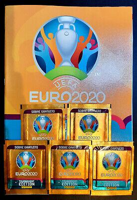 Álbum de cromos UEFA EURO 2020 PANINI + 5 sobres sin abrir