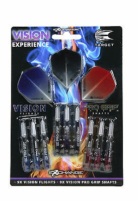 TARGET VISION EXPERIENCE PACK - PRO GRIP STEMS AND FLIGHTS - GREAT (Experience Gift Pack)