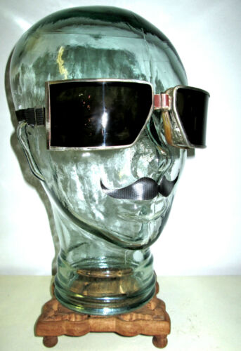 Antique WWII Cesco Smoky Goggles Sunglasses Safety Glasses Vtg Old Fun Steampunk
