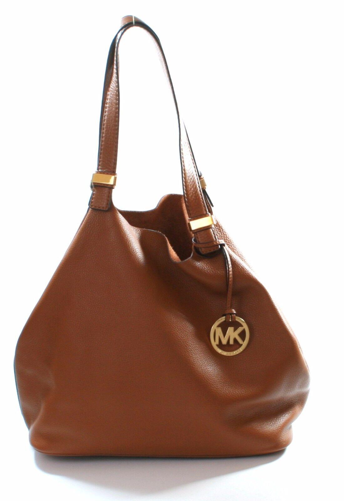 86d814ace1a1a2 ... UPC 885949832086 product image for Michael Kors Leather Colgate Hobo  Shoulder Bag Tan Brown Reversible