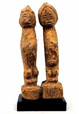 Art African Arte - Couple Bo Usu Baoulé Billiards Ball Soclé - 22,5 CMS