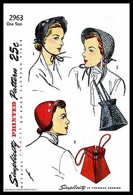 hat cap bag purse fabric sewing pattern