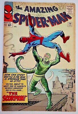 1965 Marvel Comics Book Amazing Spider-Man #20 1st Scorpion Low Grade W/O Pin-Up