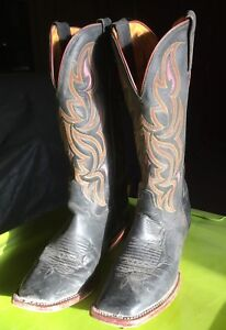 Women's black Justin square toed boots size 7