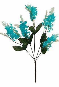 5-LILAC-BLOOMS-TURQUOISE-TEAL-AQUA-Silk-Wedding-Flowers-Bouquets-Centerpieces