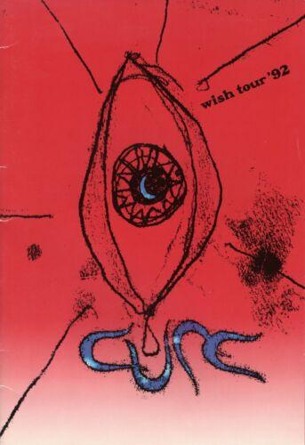 "THE CURE 1992 ""WISH"" TOUR CONCERT PROGRAM BOOK-ROBERT SMITH"