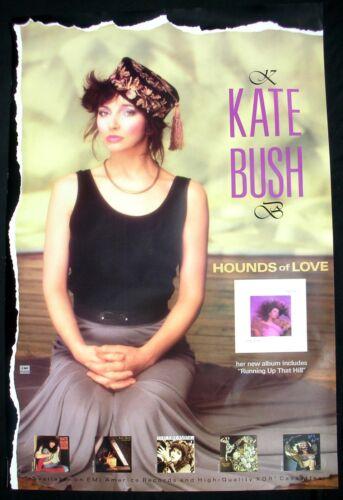 KATE BUSH Hounds Of Love Promo Poster Mint- USA 1985 ORIGINAL!! RARE