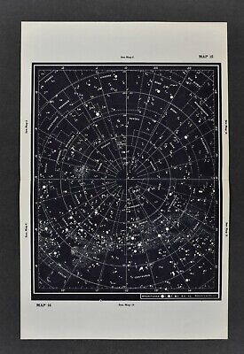 1961 Gall & Inglis Star Map Southern Hemisphere Mag 5> Milky Way Sky Chart Cross