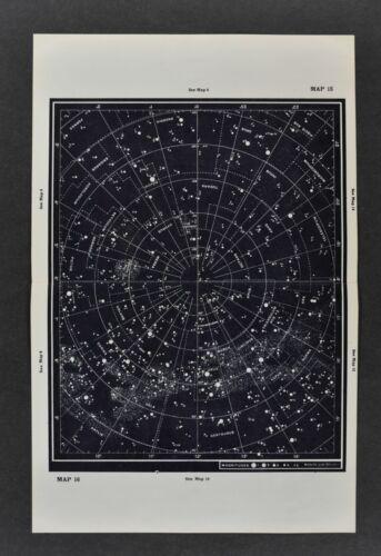 1961 Gall & Inglis Star Map Southern Hemisphere Mag 5> Milky Way Sky Chart Cross