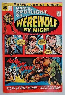 1972 Marvel Comics Book Spotlight On #2 Werewolf By Night 1st Werewolf App MCU