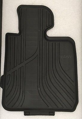 BMW Genuine Front All Weather Floor Mats in Black 1   2  series F20 F21 F22 F23