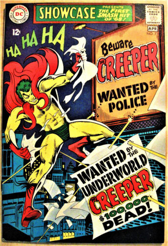 SHOWCASE# 73 Apr 1968 1st Creeper/Origin Steve Ditko Cover/Art KEY: 9.2 NM-.