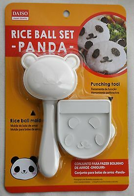 Rice Ball Mold Panda Shape & Seaweed Nori Punch Bento Making Tool Kit Onigiri