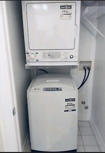 Apartment size portable washer / GE dryer combo w/stand