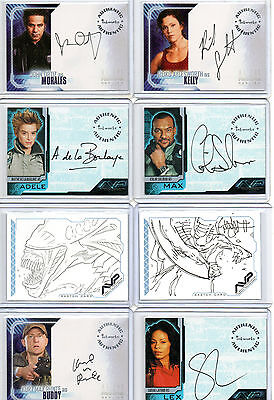 Alien Predator AVP Autograph Sketch Costume And Dog Tag Card Selection NM