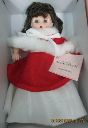 "Madame Alexander Doll--""Happy Holly Days""--#75015--Charm---Made for Lenox--NIB"