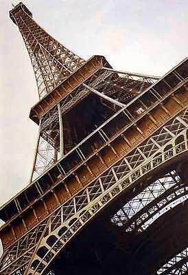 Eiffel Steeple Paris France Cafe Arc Notre Dame Wine Provence Art Oil Painting