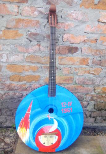 USSR Russia Ukraine Stringed musical instrument Bass domra Hand painted