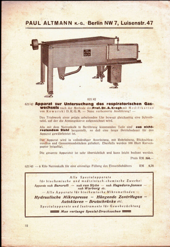 Paul Altmann 1920s Illustrated Catalog of Scientific Instruments (German)