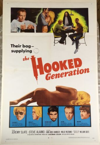 THE HOOKED GENERATION 1968 One-Sheet Movie Poster Florida Hippies William Grefé
