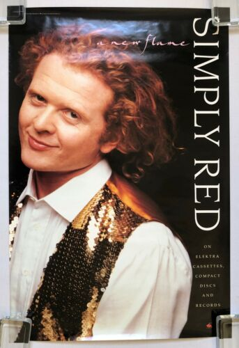 SIMPLY RED A New Flame 1989 US PROMO Only POSTER Mick HUCKNALL VG++