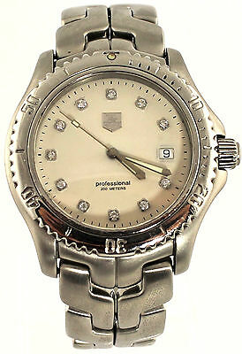 WT1117.BA08850 A Rare Find Tag Heuer Link Professional Classic Dimaond Watch