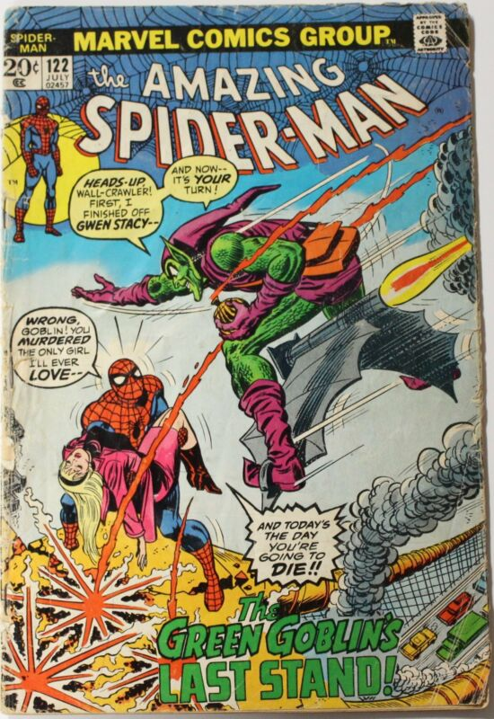 Amazing Spider-man (1963 1st Series) 122 Death of Green Goblin KEY Issue Comic