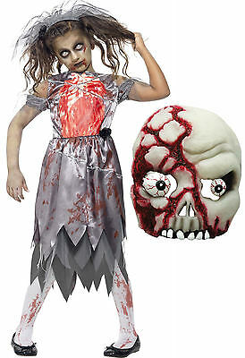Zombie Corpse Bride Girls Kids Teen Smiffys Halloween Fancy Dress Costume + MASK](Corpse Bride Girls Costume)