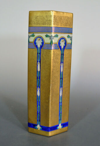"Pickard Encrusted Linear 14"" Norton Vase 1912 - 1918 - A Statement Piece"