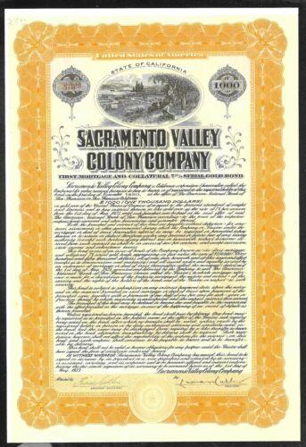 Bond - $1000 - Sacramento Valley Colony Company - 1923