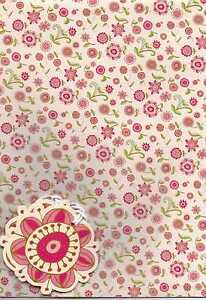 Ditsy Floral Vintage 2 sheets gift wrap & 2 gift tags Wrapping Paper