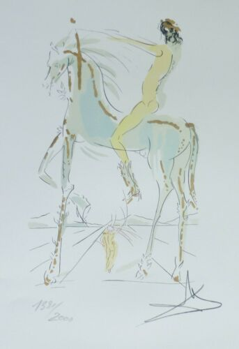 SALVADOR DALI mistress is beautiful ...signed HAND NUMBERED 1391/2000 LITHOGRAPH
