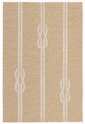 AREA RUGS - NAUTICAL KNOTS INDOOR OUTDOOR RUG - NATURAL - 5' x 7'6