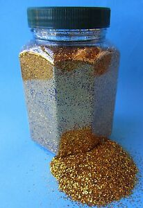 Glitter Glitterstaub Farben Gold pro Dose Inhalt 350g