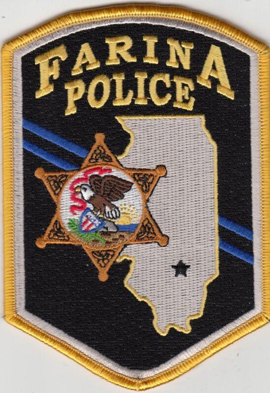 FARINA POLICE SHOULDER PATCH ILLINOIS IL