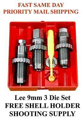 LEE Carbide 3 Die Set 9mm Luger 9mm Parabellum 9x19mm 90509 FAST SAME DAY SHIP