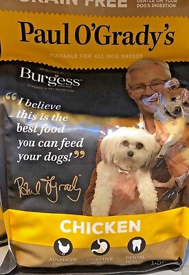 Burgess - Paul O'Grady's Grain Free Chicken - 1.5kg Dry Dog Food Feed