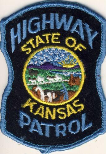 """Highway Patrol State of Kansas KS 4"""" Patch"""