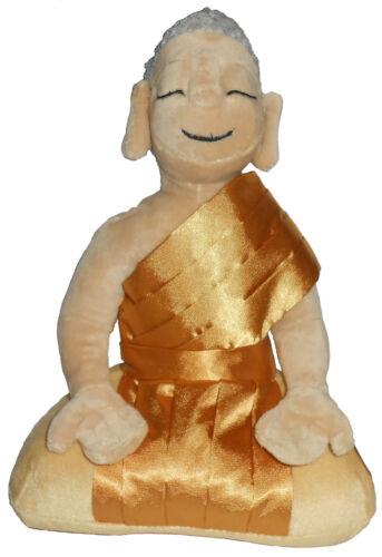 "Buddha Garden 10"" Meditating Peace Plush Doll Toy Tibet Gold"