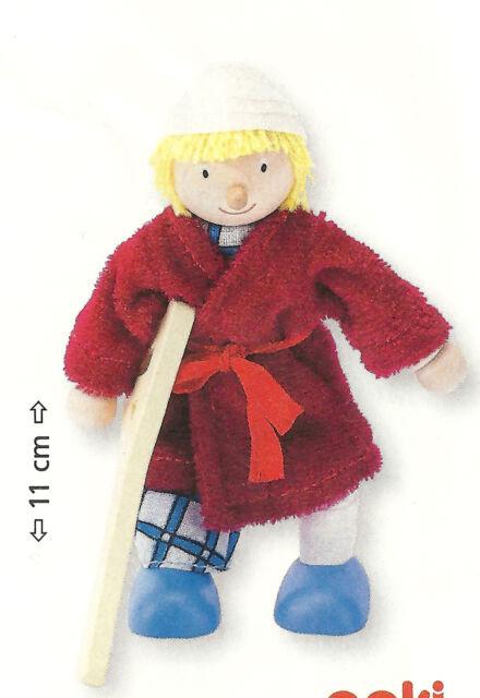Goki 51614 - Biegepuppe Patient  für Puppenhaus Holz NEU