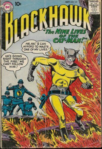 BLACKHAWK #141, 155, 158, 159, 161 (5 issues, DC Comics, 1959-1961)